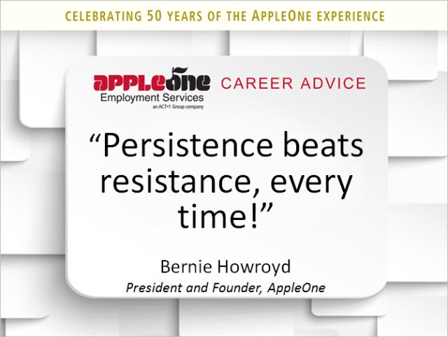 Persistence Beats Resistance
